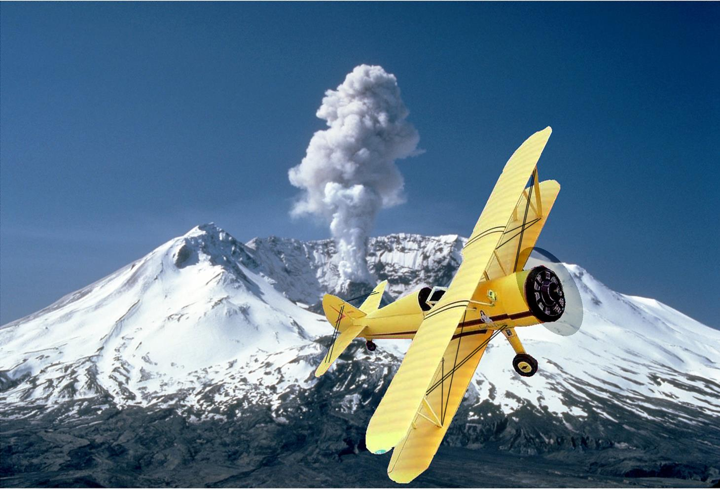 Papercraft imprimible y armable del Boeing P-17 Stearman. Manualidades a Raudales.